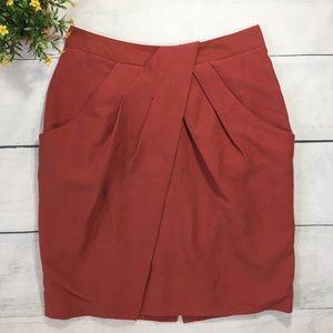Anthropologie Fei Silk Blend Tulip Skirt